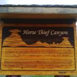 Horsethief Canyon Foto
