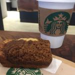 Coffee Cake and coffee at Starbucks