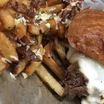 POT ROAST SANDWICH WITH PARMESAN GARLIC FRENCH FRIES