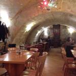 Great cellar-restaurant! big portions, yummy food.