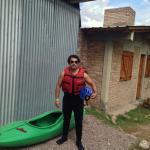 Con equipo de rafting
