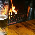Open fire and great beer!