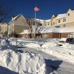Front of hotel after blizzard