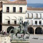 Estatua de francisco Pizarro en la Plaza mayor de Trujillo