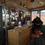 Die Bar in einer alten Gondel, Hotel Jungfrau