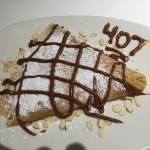 almond and nutella crepe