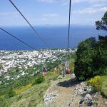 A view from the Mt. Solaro chairlift
