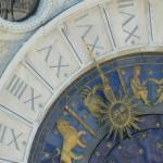 Detalle del reloj desde lo alto del Campanile