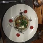 Ganz okey drinks, feines, gehobenes essen, schönes ambiente: tunafish curry mit reis, couscous,