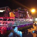 Parade for Mardi Gras and view from balcony