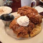 Awesome Chicken and Waffles at Sunday Brunch