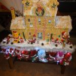 saltine cracker house during Christmas