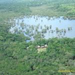 Vista aerea del Cuyabeno Lodge