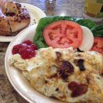 Egg White Onion Omelette