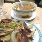 Mongolian Beef and Hot and Sour Soup, Grand China Chinese Restaurant, Placerville, Ca