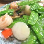 Shrimp with Snow Peas, Grand China Chinese Restaurant, Placerville, CA