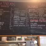 menu w/o drink options.