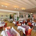 La salle et quelques plats du Portofino