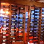 Mostrador de vinos