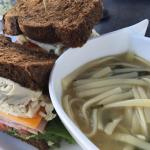 Club Sandwich with Chicken Noodle Soup
