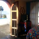 haitacion doble matrimonial con baño privado, terraza privada buena vista de los volcanes