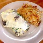 Vegetarian Omelette with cheese!