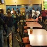 Moes Mondays good food great service and the best burritos anywhere for 5.99 one any burrito onl