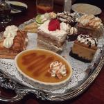 This is the awesome desert tray and the homemade ice cream is to die for