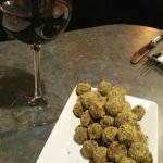 Bleu cheese pistachio crusted grapes