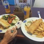 Fantastic fish & chips very tasty and good choice fish