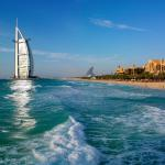 Jumeirah beach with the stunning view of Burj Al Arab