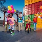 Kids having fun in Box Park