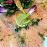 Carpaccio de saumon, marinade à l'aneth