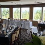 Dining room set up for wedding