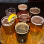 The micro-brew sampler is a great way to start the evening!