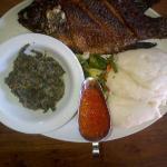 Whole Bream with 'Nshima' (aka Ugali/Posho in Kenya)
