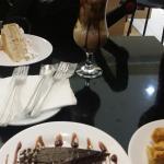 capuccino gelado... torta de nozes...