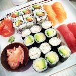 Le menu dégustation (les sashimis sont en supplément)