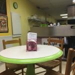 Inside. 4 tables.