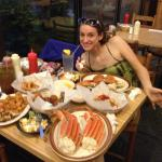 My girlfriend and I having dinner our first time this past summer. 30$ for all that food by the