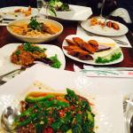 Crispy duck with basil mint, pounded jack fruit, minced pork with lard were the best, yummy