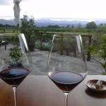 Wine after dinner on the veranda.