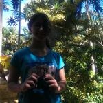 Sofía, desde Argentina, disfrutando de Hunte's Garden