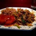 Spicy beef, hot chicken & fried rice lunch special