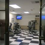 There is an exercise room