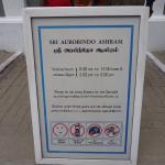 Aurobindo Ashram - Timing and Instructions