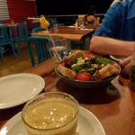 Mango Margarita was excellent as was the Greek salad