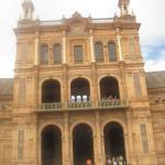 particolare di palazzo di plaza di espana