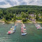 Aerial from Otsego Lake