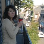 Our balcony - Bourbon street is the first corner in the background
